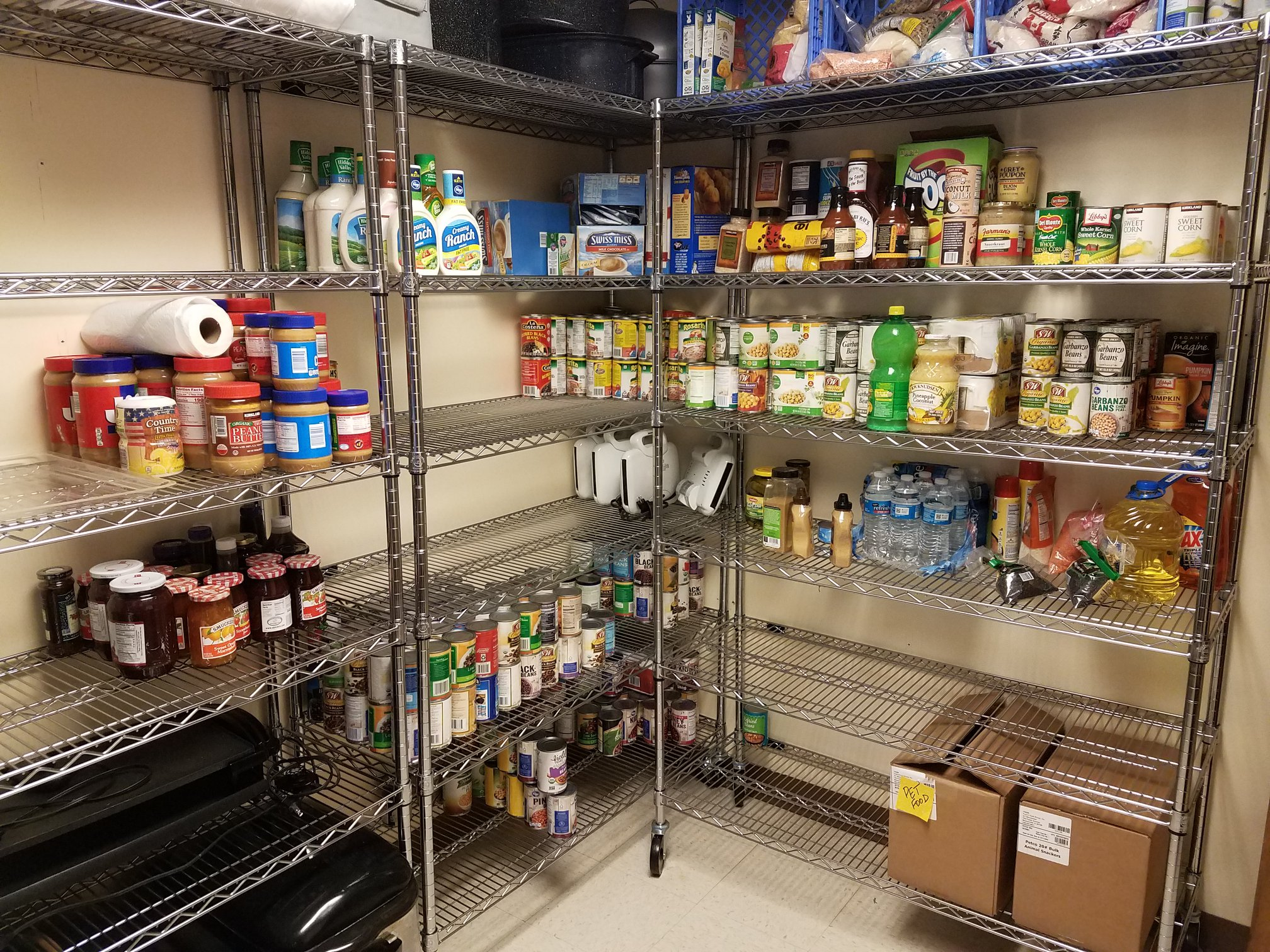 photo of empty OK pantry
